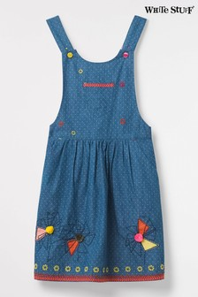 White Stuff Blue May May Pinny Dress