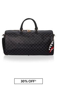 Sprayground Black Spucci Split Duffle Bag