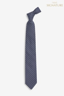Puppytooth Signature Silk Blend Tie