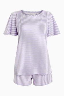 Stripe Cotton Short Set