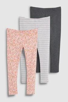 Pretty Floral Leggings Three Pack (3-16yrs)