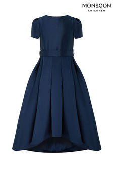 Monsoon Navy Henrietta High Low Dress