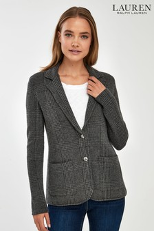 Lauren Ralph Lauren® Grey Check Wool Blazer
