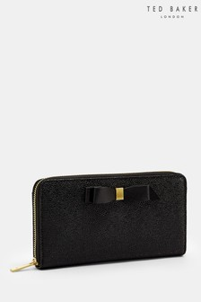 Ted Baker Aine Black Bow Zip Purse