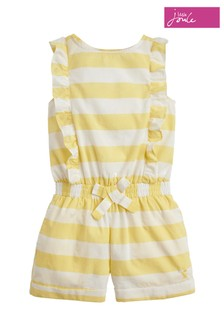 Joules Yellow Elle Woven Playsuit
