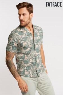 FatFace Pink Palm Leaf Print Shirt