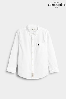 Abercrombie & Fitch White Pocket Shirt