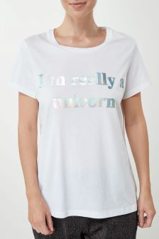 Unicorn Slogan T-Shirt