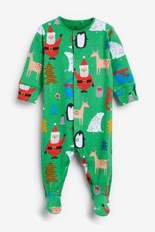 Pijama con estampado navideño (0 meses-2 años)
