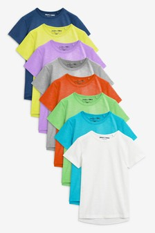Short Sleeve Essential T-Shirts Eight Pack (6mths-6yrs)