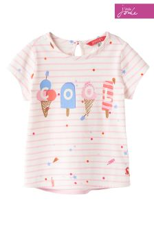 Joules Cream Lolly Sprinkle Stripe Pixie T-Shirt