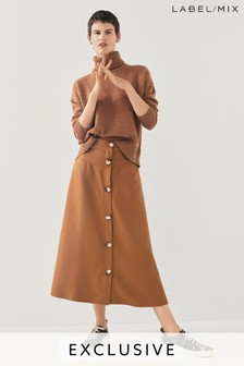 Mix/Rejina Pyo Button Front Midi Skirt