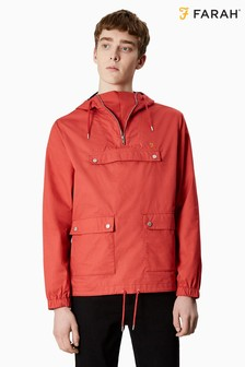 Farah Red Hartnoll Over The Head Jacket