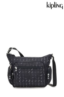 Kipling Black Tile Print Gabbie S Crossbody Bag