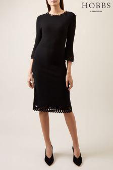 Hobbs Black Myra Dress