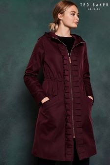 Ted Baker Purple Ruched Parka