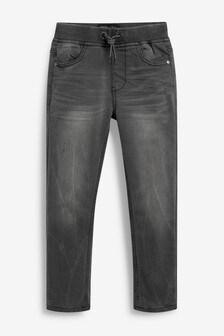 Jersey Denim Rib Waist Jeans (3-16yrs)