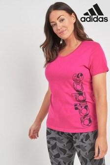 adidas Pink Linear Tee