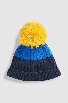 Knit Pom Hat (0mths-2yrs)
