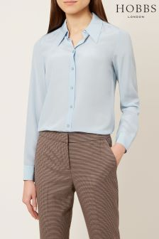 Hobbs Pale Blue Athena Blouse