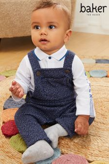 Baker by Ted Baker Polo and Dungaree Set