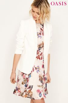 Oasis White Tailored Event Blazer