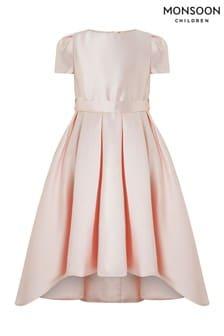 Monsoon Pink Henrietta High Low Dress