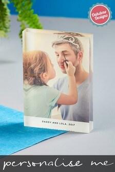 Personalised Photo Upload Acrylic Photo Block By Oakdene Designs