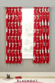 Stars Blackout Pencil Pleat Curtains