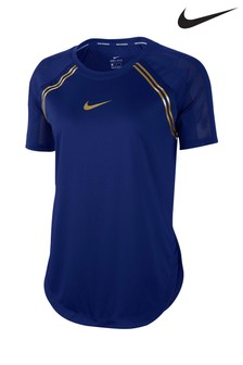 Nike Glam Blue Running Top