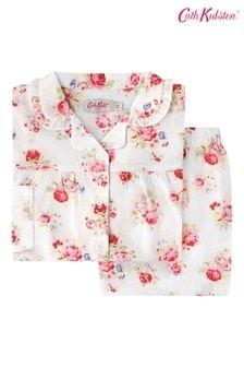 Cath Kidston® Kids White Briar Rose Woven Pyjamas