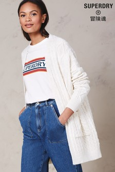 Superdry Cream Cable Cardigan