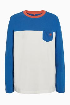 FatFace Natural Colourblock Pocket T-Shirt