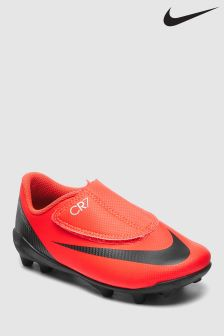 Nike Red CR7 VaporX Firm Ground Velcro