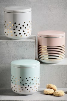 Set of 3 Confetti Storage Jars