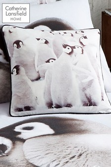 Catherine Lansfield Penguin Colony Cushion