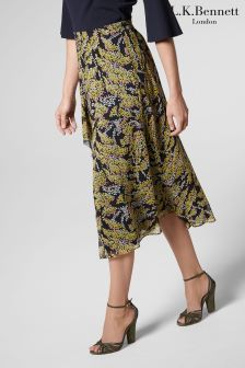 L.K.Bennett MulBlue/Yellow Kimi Skirt