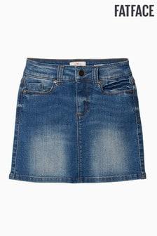 FatFace Jeansrock in heller Waschung, blau