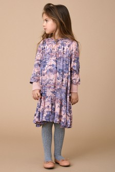 Wheat Girls Mary Poppins Print Dress