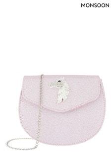 Monsoon Pink Mystique Diamanté Unicorn Bag