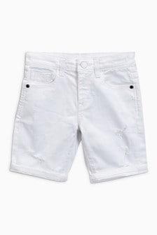 Denim Distressed Five Pocket Shorts (3-16yrs)