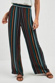 498789a77bba6 Stripe Wide Leg Trousers