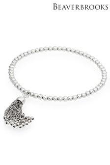 Beaverbrooks Silver Tassel Ball Bracelet