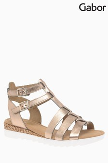 Gabor Golden Leather Sandal