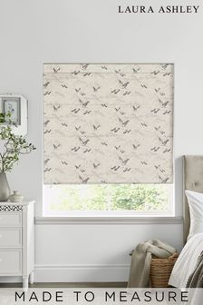 Laura Ashley Animalia Silver Made to Measure Roman Blind