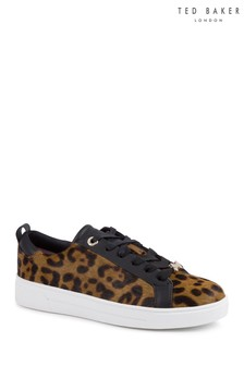 Ted Baker Leopard Print Elzseel Slip-On Trainer