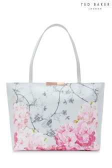 Ted Baker Grey Jeenaa Floral Print Shopper Bag