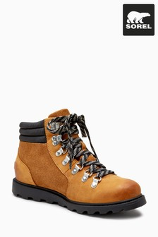 Sorel® Camel Brown Suede Leather Ainsley Conquest Walker Boot