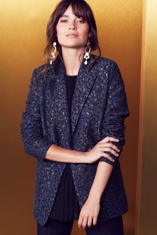Animal Jacquard Blazer