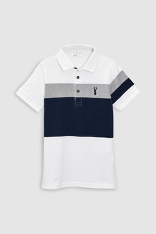 Colourblock Polo T-Shirt (3-16yrs)